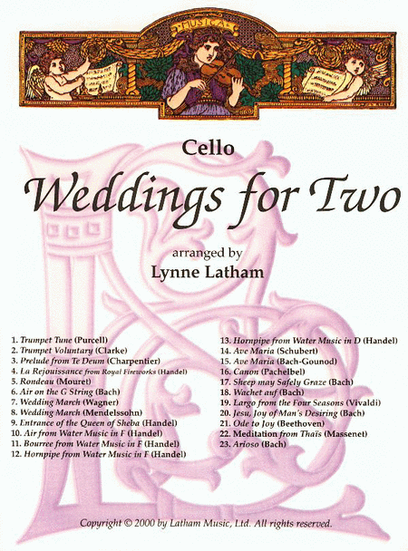 Weddings for Two - Cello part