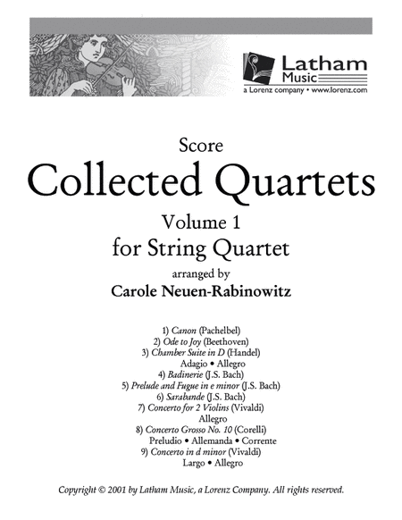 Collected Quartets Volume 1 - Score