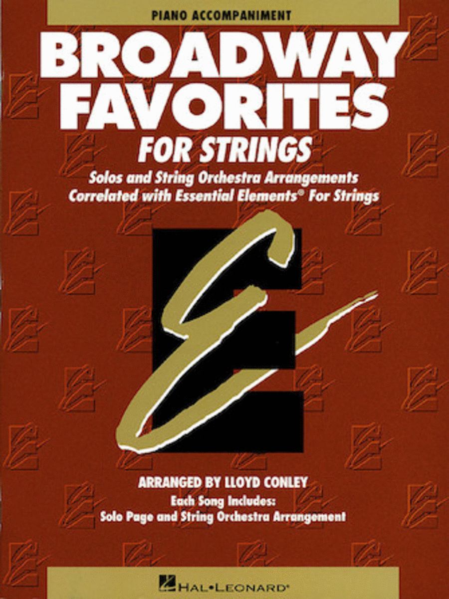 Broadway Favorites For Strings - Piano Accompaniment