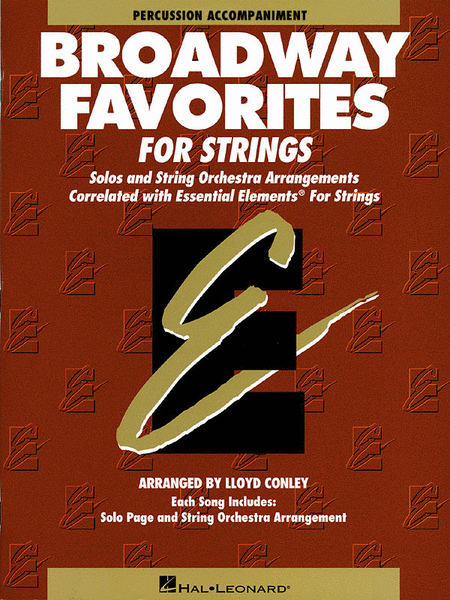 Broadway Favorites For Strings - Percussion Accompaniment