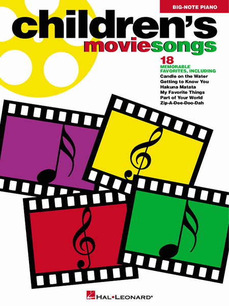 Children's Movie Songs - Easy Piano