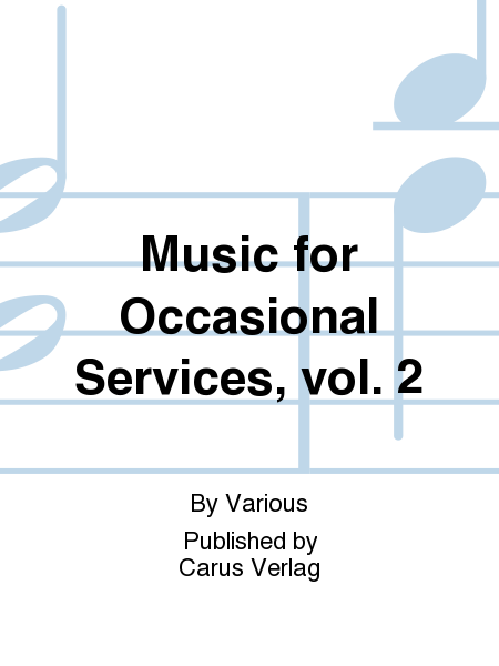 Music for Occasional Services, vol. 2