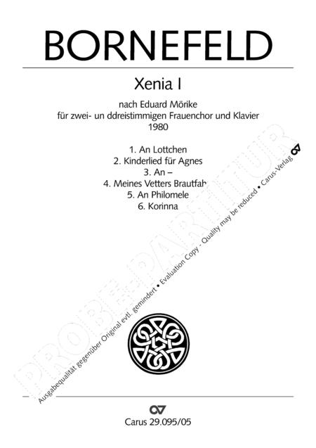 Xenia I und II (nach Morike)