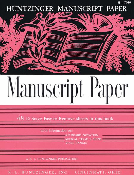 Manuscript Book - 48 Pages