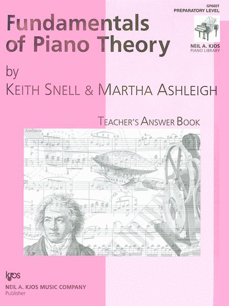 Fundamentals Of Piano Theory, Prep-Answer Book