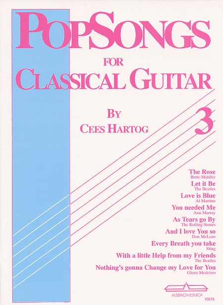 Popsongs for Classical Guitar vol.3