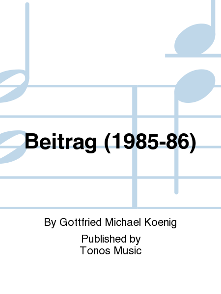 Beitrag (1985-86)