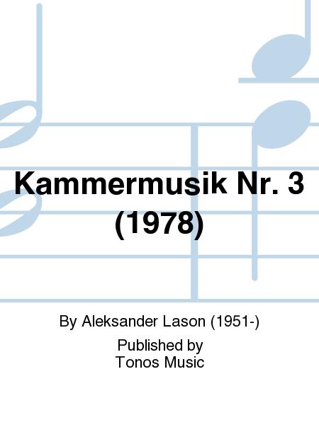 Kammermusik Nr. 3 (1978)