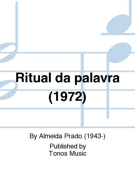 Ritual da palavra (1972)