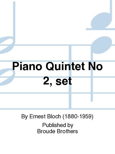 Piano Quintet No 2, set