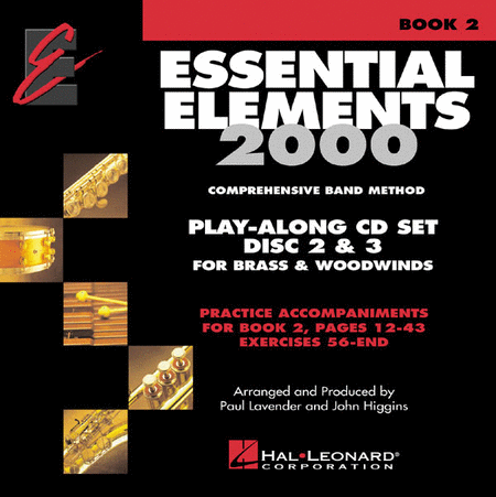 Essential Elements 2000 - Book 2 (Brass & Woodwinds) - Play Along Trax Discs 2 & 3 (Ex. 56-end)