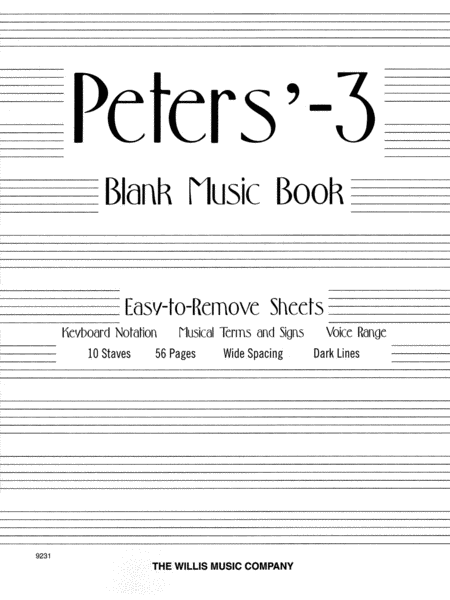 Peters' Blank Music Book (White)