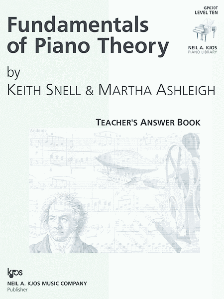 Fundamentals Of Piano Theory, Level 10 - Answer Book