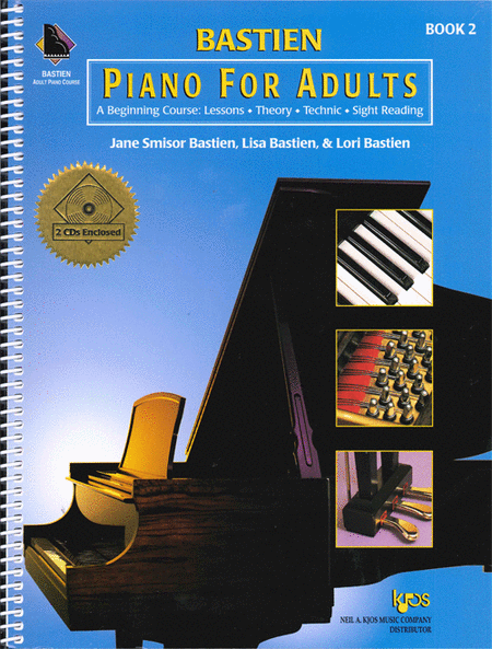Bastien Piano For Adults - Book 2 (Book & CD)