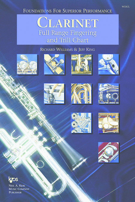 Foundations For Superior Performance Full Range Fingering and Trill Chart-Clarinet