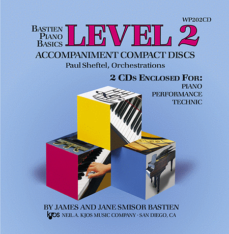Bastien Piano Basics, Level 2, Piano/Performance/Technic (Accompaniment CDs)