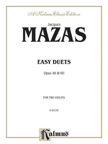 EASY DUETS Opus 40 & 60 - for Two Violins