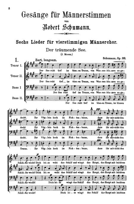Songs for Men's Choir