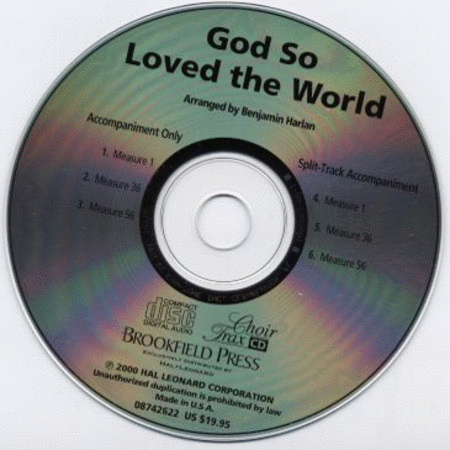 God So Loved the World - ChoirTrax CD