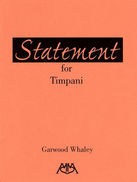 Statement for Timpani