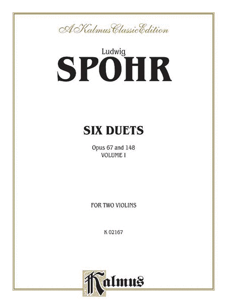 Six Duets For Two Violins, Volume I - Opus 67 & 148