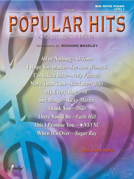 Popular Hits Collection - Big Note Piano