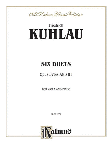 Six Duets For Two Flutes - Opus 57bis and 81