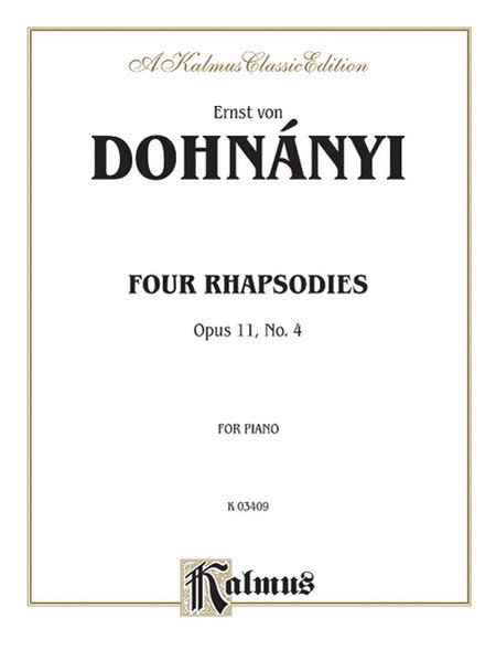 Rhapsody, Op. 11/4