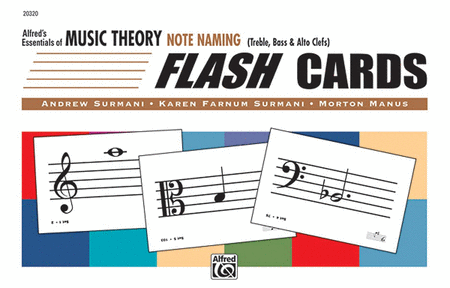 Alfred's Essentials of Music Theory: Flash Cards - Note Naming