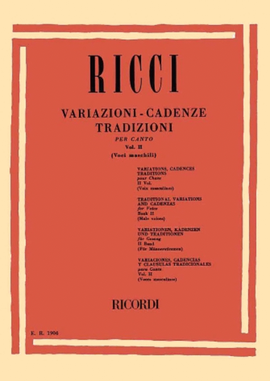 Variations and Cadenzas of Rossini - Appendix No. 2