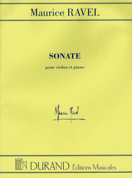 Sonate (Sonata) for Violin and Piano