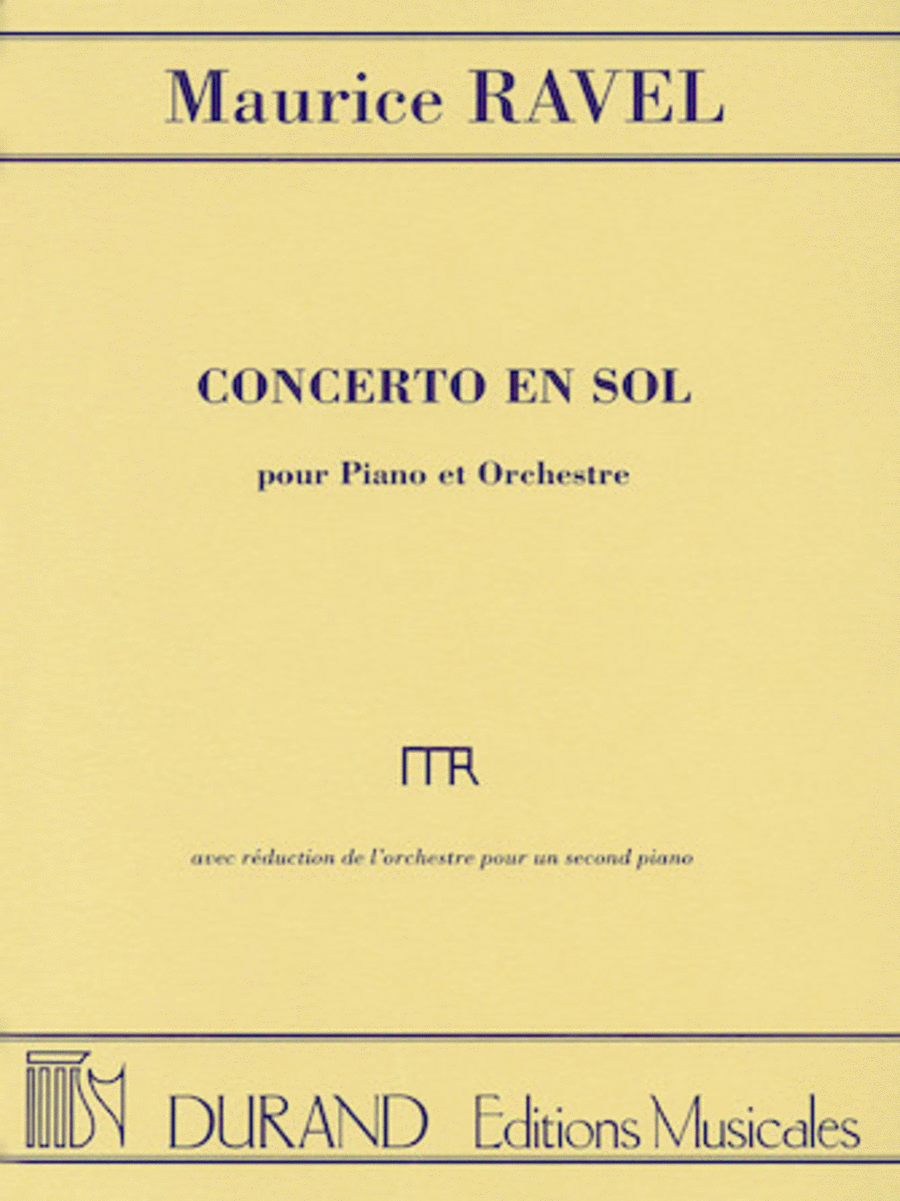 Concerto in G for Piano and Orchestra