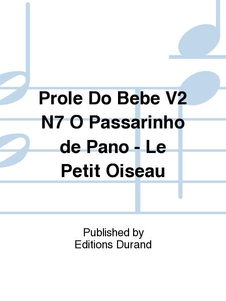 Prole Do Bebe V2 N7 O Passarinho de Pano - Le Petit Oiseau
