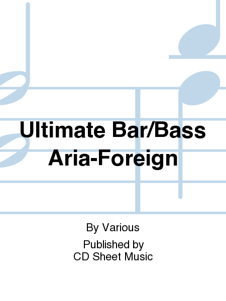 Ultimate Bar/Bass Aria-Foreign