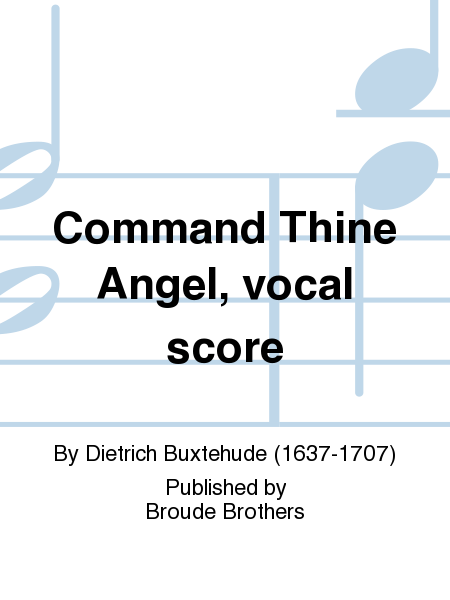 Command Thine Angel, vocal score