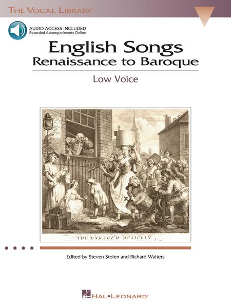 English Songs: Renaissance to Baroque