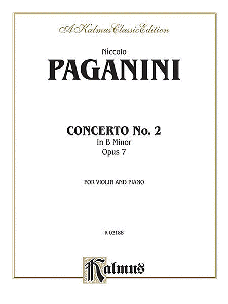 VIOLIN CONCERTO No. 2 in B Minor, Opus 7