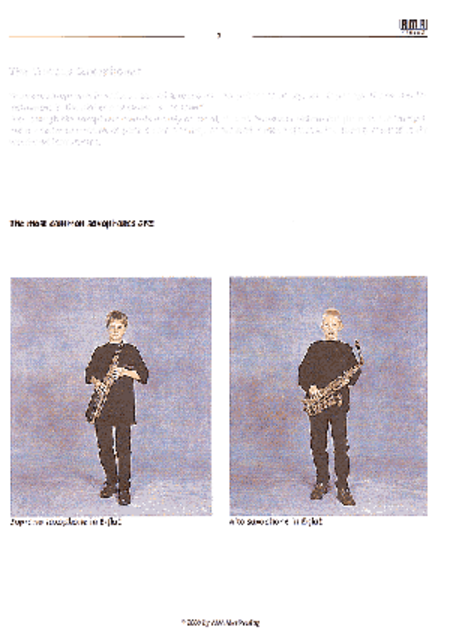 Sax 130 Top: Saxophone Method for Children