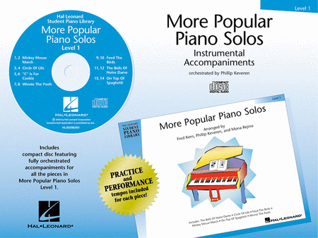 More Popular Piano Solos - Level 1 - CD