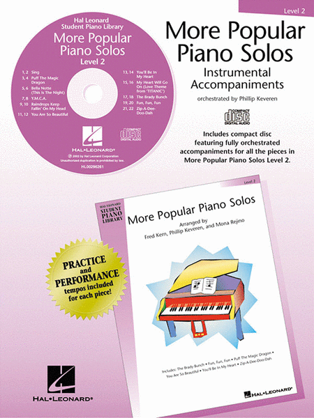 More Popular Piano Solos - Level 2 - CD