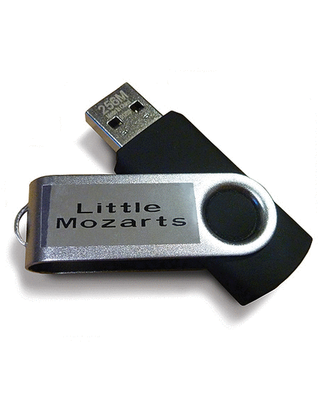 Music for Little Mozarts -- General MIDI Accompaniments on USB Flash Drive