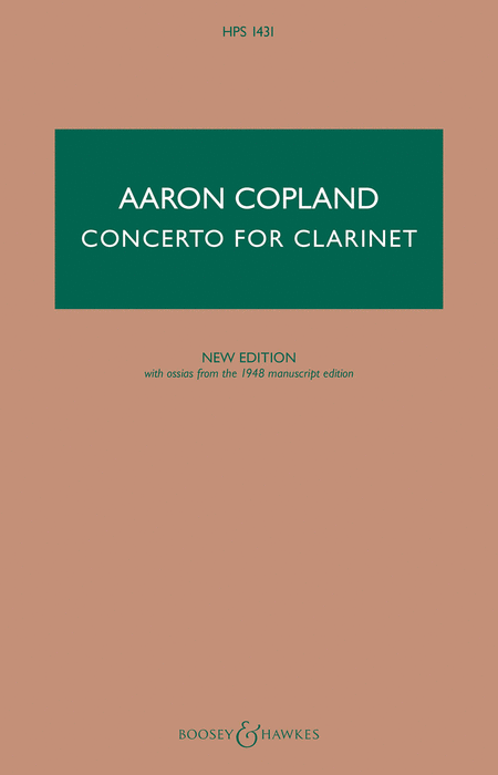 Concerto for Clarinet - New Edition