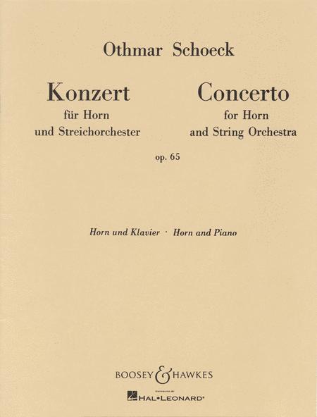 Horn Concerto, Op. 65