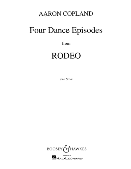 Four Dance Episodes from Rodeo
