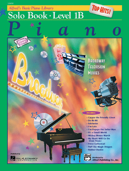 Alfred's Basic Piano Course - Top Hits! Solo Book & CD Level 1B