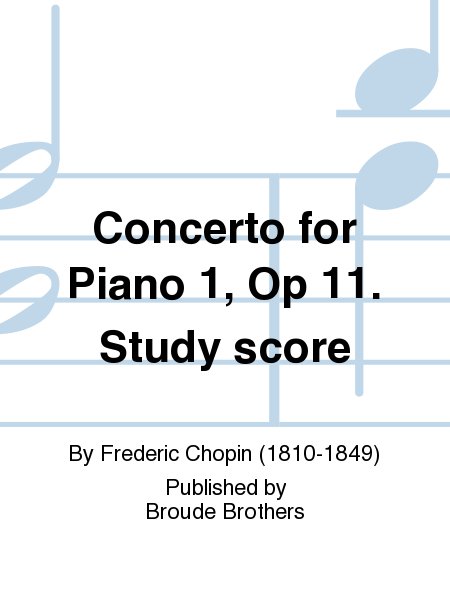 Concerto for Piano 1, Op 11. Study score