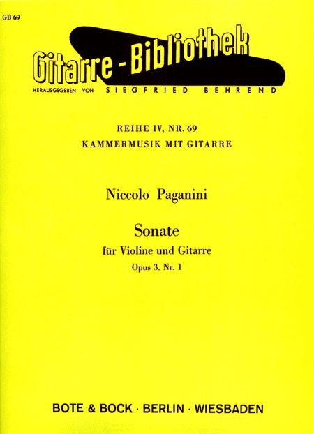 Sonata for Violin and Guitar, Op. 3, No. 1
