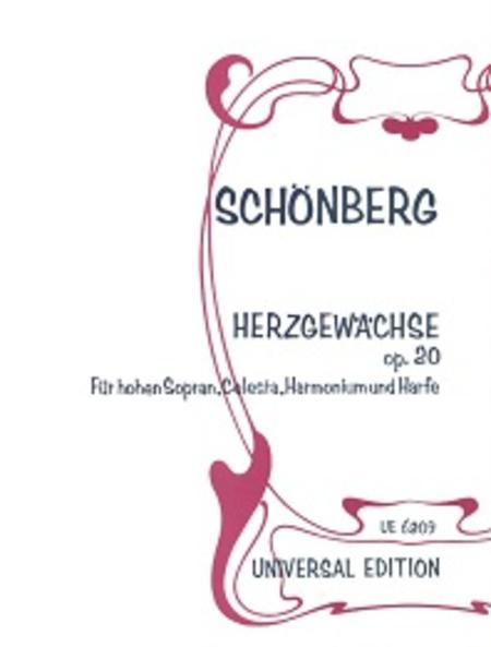 Herzgewaechse, Op. 20