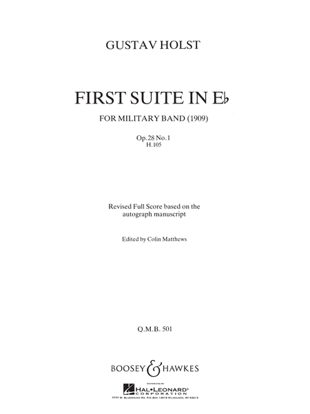 First Suite In Eb For Military Band, Op. 28, No. 1