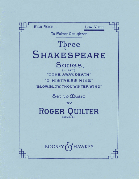 Three Shakespeare Songs, Op. 6